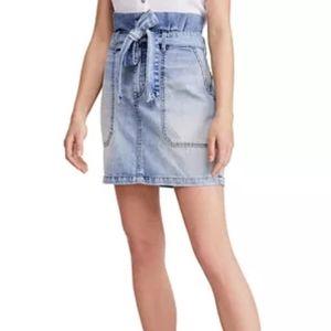 Free People Tie-Waist Denim Skirt